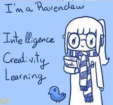 I'm a Ravenclaw