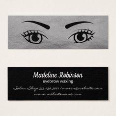 Beautiful Eyes Mini Business Card - makeup artist gifts style stylish unique custom stylist