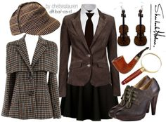 Sherlock inspired outfit.                                                                                                                                                                                 More