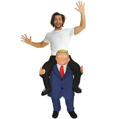 Show him who the boss is with a Combover Presidential Ride-On Costume for adults! Featuring stuffed pants that look like an orange little man with combover, this piggyback costume will surely get some laughs. Epic Halloween Costumes, Funny Adult Costumes, Costumes For Teens, Toddler Costumes, Boy Costumes, Adult Halloween, Costume Ideas, Trump Halloween, Halloween 2020