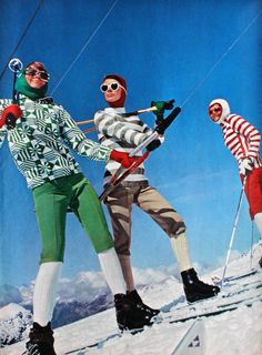 If only skiing was like this today Ski Fashion, Sport Fashion, Fashion Photo, 1960s Fashion, Daily Fashion, Ski Vintage, Photo Vintage, Vintage Travel, Vintage Ski Posters