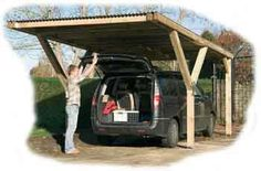 Modern and extremely versatile carport. The Y shaped front supports mean that entering and leaving the carport is much easier due to the large post free area at the front. 1,349.00
