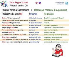 Phrasal verbs On