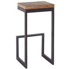 tabouret de bar haut, forme carrée, hiba (lot de 2 | bureaux, bar ... - Tabouret Haut De Cuisine