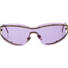 e7d9aff9c1d80 Pre-owned Salvatore Ferragamo Embellished Rimless Sunglasses (210 BRL) ❤  liked on Polyvore featuring accessories