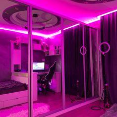 Neon Bedroom, Room Design Bedroom, Room Ideas Bedroom, Bedroom Themes, Bedroom Decor, Bedrooms, Cute Room Decor, Teen Room Decor, Sala Grunge
