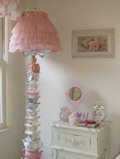 Teapot and teacup lamp. Cindy Brown Design