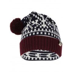 05c02931ad86f Men s Sandor Wool Blend Fairisle Print Bobble Hat in Navy – Tokyo Laundry