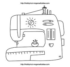 Doodle of sewing machine