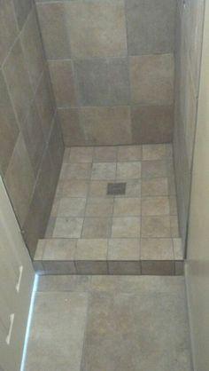 Small Showers, Tile Showers, Shower Tiles, Shower Doors, Basement Bathroom,  Small Bathroom, Bathroom Ideas, Shower Remodel, Rustic Blue