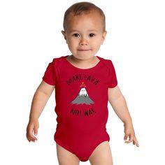 MAKE LAVA NOT WAR Baby Onesies