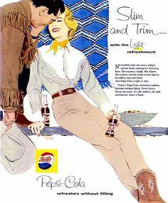 ILLUSTRATED PEPSI ADS, 1950S