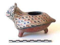 Pieza zoomorfa diaguita - del flickr del museo Atacama.