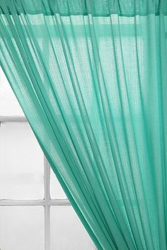 """Chloe Gauze Curtain; for the bedroom? 52"""" wide at $25"""