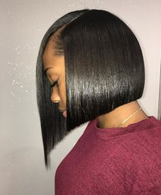 Weave Bob Hairstyles, Quick Braided Hairstyles, Black Bob Hairstyles, Black Hairstyles With Weave, Dope Hairstyles, Bob Haircuts, Ponytail Hairstyles, Quick Weave Bob, Bob Weave