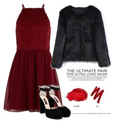 """Red Queen"" by medvedevalala on Polyvore featuring мода, New Look, Chicwish, Urban Decay и Jimmy Choo"