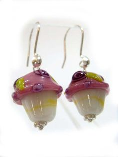 Freshly Frosted - Artisan Glass Cupcake Earrings!