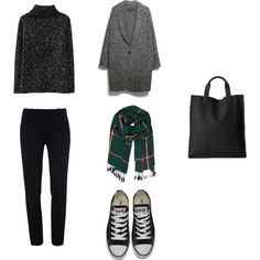 winter by missfiery on Polyvore featuring moda, MANGO, Roland Mouret, Converse, ECCO and Humble Chic