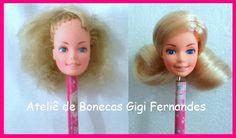 Restauração bonecas Barbie Estrela anos 80, #reroot #repaint