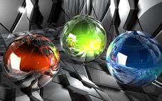 Glass orbs wallpaper