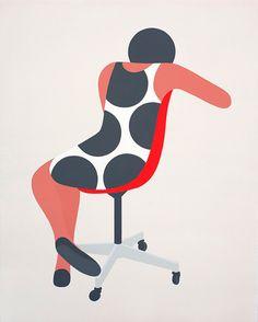 girl on a chair by Geoff McFetridge
