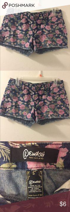 Cute flower shorts Adorable little cute flower shorts for spring or summer Rewash Shorts Jean Shorts