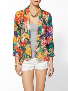 Chelsea Blazer by MINKPINK $89.00 on Piperlime.. The colors won me in this cute blazer. #Supercute #Ihave