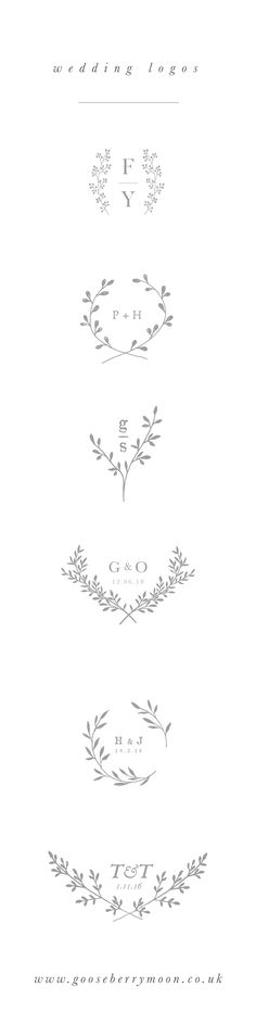 Wedding logo - wedding branding - wedding monogram - wedding crest - wedding theme - wedding stationery - couples monogram