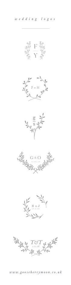Wedding logo - wedding branding - wedding monogram - wedding crest - wedding theme - wedding stationery - couples monogram