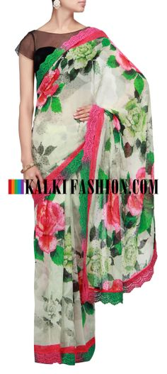Buy Traditional Indian Clothing & Wedding Dresses for Women Indian Dresses, Indian Outfits, Party Wear Dresses, Printed Sarees, Beautiful Saree, Saris, Saree Collection, Indian Sarees, Floral Motif