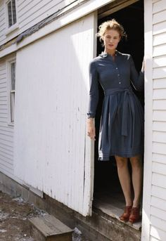 LL Bean dress and oxfords