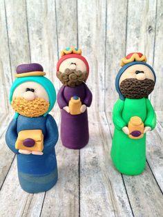 Three Kings For Nativity Scene Manger By CalledandChosen