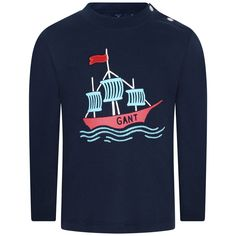 5360d776a31 Gant Baby Boys Navy Ship Print Top