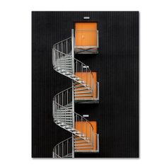 Hans Wolfgang Hawerkamp 'Northernmost Spiral Staircase' Canvas Art - x x - Multi Staircase Frames, Spiral Staircase, Tate Modern Art, Orange Door, Space Furniture, Outdoor Lounge, Luxury Gifts, Baby Clothes Shops, House Warming