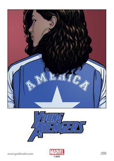 GOSH Young Avengers Signing - America Chavez bookplate by Jamie McKelvie
