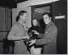 Publicity Photo Wendell Corey, Lizabeth Scott and Elvis Presley.