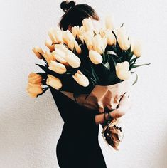Find images and videos about flowers, yellow and bouquet on We Heart It - the app to get lost in what you love. Fresh Flowers, Wild Flowers, Beautiful Flowers, Romantic Flowers, Tulips Flowers, Exotic Flowers, Purple Flowers, Flower Power, My Flower