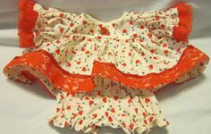 """SALE 15% OFF Holly & Hearts Print Dress set fits 12-14"""" Cabbage Patch and similar sized dolls #CabbagePatch"""