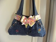 Cute purse to make from jeans!