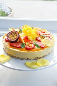 mango maracuja vegan torte