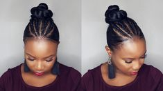 Natural Hair Updo, Natural Hair Styles, Sleek Updo, Twa Hairstyles, Tv Decor, Relaxed Hair, Ana White, Hair Videos, Updos