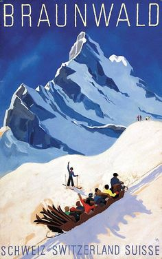 POSTER WINTER SPORT SQUAW VALLEY CA SLEDDING SNOWY HILL VINTAGE REPRO FREE S//H
