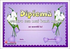 Diplome cea mai bună mamă Christmas Fun, Diy And Crafts, 8 Martie, Mai