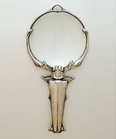 Staghorn beetle magnifying glass c.1900  Lucien Gaillard, French 1861-1942