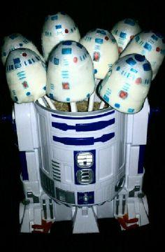 R2D2 Cake Pops