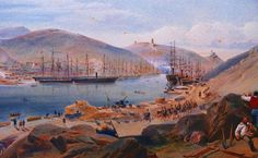 """Balaclava Harbour"" by William Simpson"