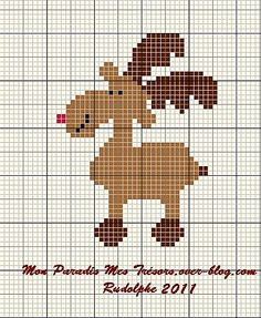 Moose or deer? Xmas Cross Stitch, Modern Cross Stitch, Cross Stitch Charts, Cross Stitching, Cross Stitch Patterns, Christmas Tree Pattern, Christmas Cross, Blackwork Patterns, Ladder Stitch