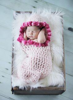 Baby Cocoon Newborn Pod Hooded Cocoon Crochet