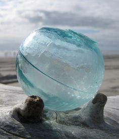 Glass Fishing Float - Ice Blue