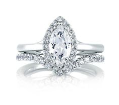 Classic Halo Marquise engagement ring.
